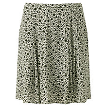 Buy Jigsaw Ikat Floral Flip Skirt, Green Online at johnlewis.com