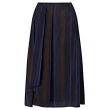 Buy Jigsaw Stripe Wrap Skirt, Navy Online at johnlewis.com