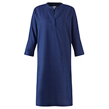 Buy Jigsaw Cotton Tunic Shirt Dress, Indigo Online at johnlewis.com