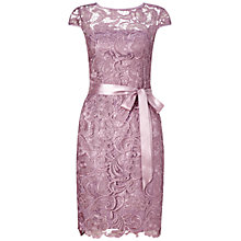 Buy Adrianna Papell Cap Sleeve Lace Cocktail Dress, Dusty Rose Online at johnlewis.com