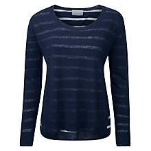 Buy Pure Collection Danica Layer Jumper, Navy/White Online at johnlewis.com
