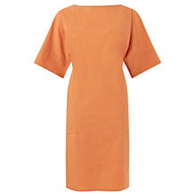 Buy Jigsaw Poplin Belted Dress, Nectarine Online at johnlewis.com