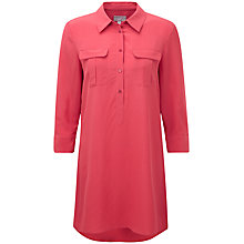 Buy Pure Collection Tara Silk Tunic Dress, Coral Rose Online at johnlewis.com