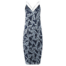 Buy Jigsaw Dispersed Geo Devore Dress, Blue Online at johnlewis.com