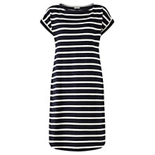 Buy Jigsaw T-Shirt Breton Short Sleeve Dress, Navy Online at johnlewis.com