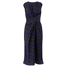 Buy Jigsaw Twist Front Stripe Dress, Navy Online at johnlewis.com