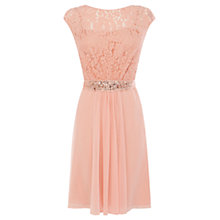Buy Coast Lori Lee Lace Dress, Peach Online at johnlewis.com
