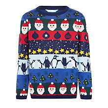 Buy John Lewis Boys' Christmas Crew Neck Jumper, Multi Online at johnlewis.com