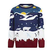 Buy John Lewis Boys' Arctic Scene Jumper, Multi Online at johnlewis.com