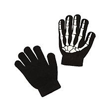 Buy John Lewis Children's Glow In The Dark Skeleton Gloves, Black Online at johnlewis.com