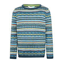 Buy John Lewis Boys' Wool Blend Fair Isle Jumper, Multi Online at johnlewis.com
