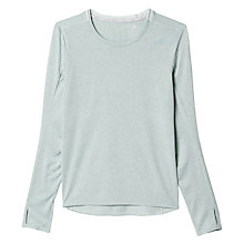 Buy Adidas Supernova Long Sleeve Running T-Shirt, Green Online at johnlewis.com