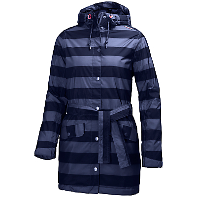 Helly Hansen Lyness Waterproof Insulated Striped Women's Raincoat, Evening Blue