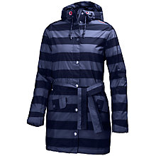 Buy Helly Hansen Lyness Waterproof Insulated Striped Women's Raincoat, Evening Blue Online at johnlewis.com