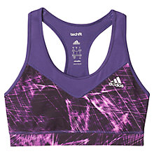 Buy Adidas Training Techfit Printed Sports Bra, Unity Purple Online at johnlewis.com