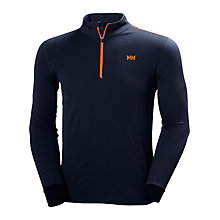 Buy Helly Hansen Active Flow 1/2 Zip Base Layer Top, Navy Online at johnlewis.com