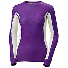Buy Helly Hansen Warm Ice Wool Crew Top, Sunburned Purple Online at johnlewis.com