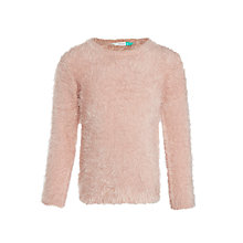 Buy John Lewis Girls' Eyelash Jumper, Pink Online at johnlewis.com