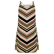Buy Oasis Chevron Stripe Cami Dress, Multi Online at johnlewis.com