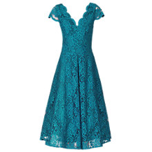 Buy Jolie Moi Cap Sleeve Scalloped Lace Prom Dress, Teal Online at johnlewis.com