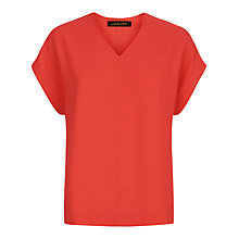 Buy Jaeger V-Neck Crepe Top Online at johnlewis.com