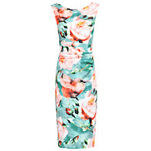 Buy Jolie Moi Floral Ruched Dress, Multi Online at johnlewis.com