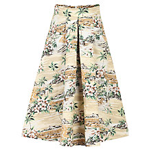 Buy Jolie Moi Retro Printed A-Line Skirt, Brown Online at johnlewis.com