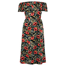 Buy Oasis Waikiki Print Ruffle Dress, Multi Online at johnlewis.com