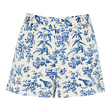 Buy Oasis Rosie Bird Shorts, Multi Online at johnlewis.com
