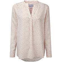 Buy Pure Collection Tiffany Silk Longline Blouse, Pale Animal Spot Online at johnlewis.com