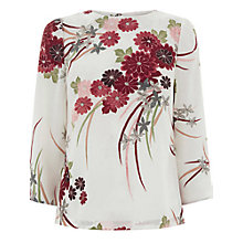 Buy Warehouse Watercolour Floral Top, Multi Online at johnlewis.com