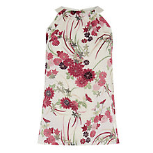 Buy Warehouse Oriental Floral High Neck Top, Multi Online at johnlewis.com