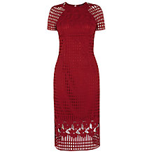 Buy Warehouse Grid Lace Pencil Dress Online at johnlewis.com