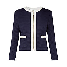 Buy Ted Baker Eniela Contrast Bow Detail Jacket, Dark Blue Online at johnlewis.com