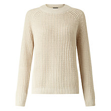 Buy Selected Femme Flora Long Sleeve Raglan Jumper, Rainy Day Online at johnlewis.com