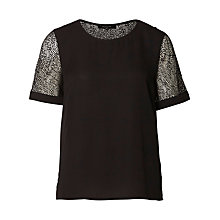 Buy Selected Femme Daryn T-Shirt, Black Online at johnlewis.com
