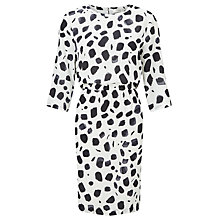 Buy Selected Femme Norva Printed Dress, White/Black Online at johnlewis.com