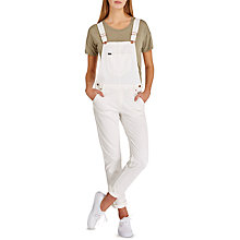 Buy Lee Bib Logger Dungarees, Off White Online at johnlewis.com