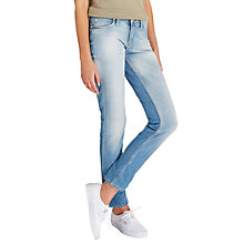 Buy Lee Emlyn Regular Waist Straight Leg Jeans, Beach Blue Online at johnlewis.com