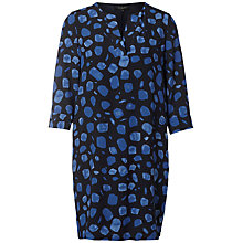 Buy Selected Femme Yana Printed Dress, Black/Blue Online at johnlewis.com