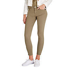 Buy Lee Scarlett Regular Waist Cropped Skinny Jeans, Desert Storm Online at johnlewis.com