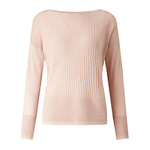 Buy Selected Femme Amba Pointelle Jumper, Peach Whip Online at johnlewis.com