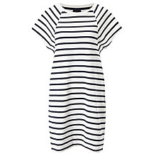 Buy Selected Femme Natali Stripe Dress, Snow White/Dark Navy Online at johnlewis.com