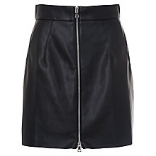 Buy French Connection Atlantic PU Mini Skirt, Black Online at johnlewis.com