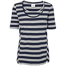 Buy Mamalicious Gitte Nell Jersey Maternity Nursing Top, Blue/Grey Online at johnlewis.com