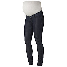 Buy Mamalicious Julia Unwashed Slim Fit Maternity Jeans, Dark Blue Online at johnlewis.com