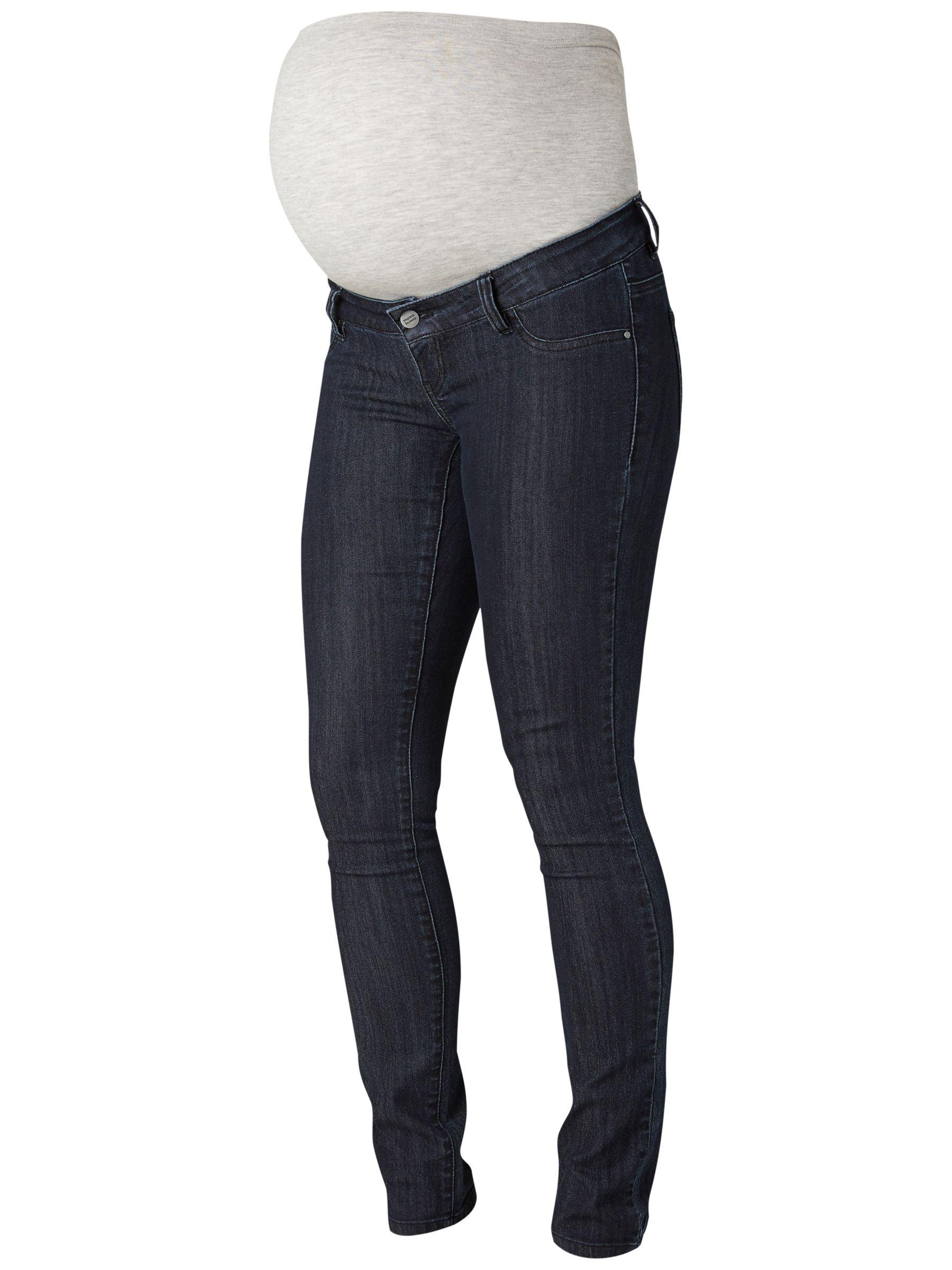 Mamalicious Mamalicious Julia Unwashed Slim Fit Maternity Jeans, Dark Blue