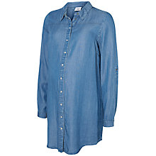 Buy Mamalicious Chambray Maternity Tunic Top, Denim Blue Online at johnlewis.com