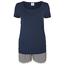 Buy Mamalicious Thilde Maternity and Nursing Short Pyjamas, Black Iris Online at johnlewis.com