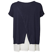 Buy Mamalicious Miko Mix Jersery Maternity Nursing Top, Navy Online at johnlewis.com